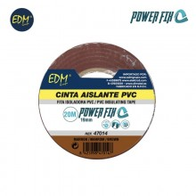 CINTA AISLANTE 20M X19MM MARRON EDM