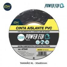 CINTA AISLANTE XL 30M X 80 MM NEGRA EDM