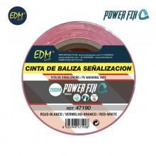 CINTA DE BALIZA BLANCA/ROJA 200M X 50MM EDM