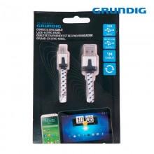 CABLE CARGADOR USB A MICRO USB CON SINCRONIZACION GRUNDIG 1M