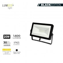 "FOCO PROYECTOR LED 20W 4000K 1600 LUMENS ""BLACK EDITION"" LUMECO"