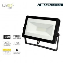 "FOCO PROYECTOR LED 100W 4000K 7000 LUMEN ""BLACK EDITION"" LUMECO"