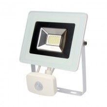 FOCO PROYECTOR LED EXTRAPLANO SMD IP44 220-240V 20W 6.400K LUZ FRIA 1400 LUMENS CON SENSOR DE PRESENCIA EDM