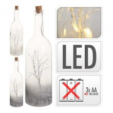 BOTELLA LED EFECTO DECO 34CM