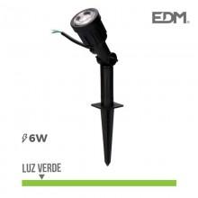 ESTACA JARDIN LED IP64 6W LUZ VERDE 38º EDM