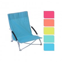 SILLA METALICA PLAYA 78X16X42CM (COLORES SURTIDOS)