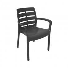 SILLON APILABLE COLOR NEGRO RESINA 60,5X54X82CM