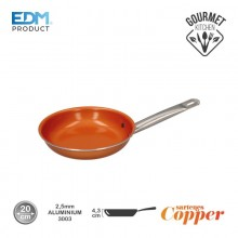 "SARTEN ANTIADHERENTE - ""COPPER LINE"" - EXCILON TECNOLOGY - Ø20CM - EDM"