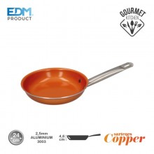 "SARTEN ANTIADHERENTE - ""COPPER LINE"" - EXCILON TECNOLOGY - Ø24CM - EDM"