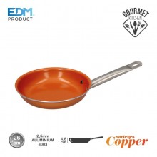 "SARTEN ANTIADHERENTE - ""COPPER LINE"" - EXCILON TECNOLOGY - Ø26CM - EDM"
