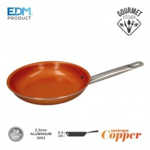 "SARTEN ANTIADHERENTE - ""COPPER LINE"" - EXCILON TECNOLOGY - Ø28CM - EDM"
