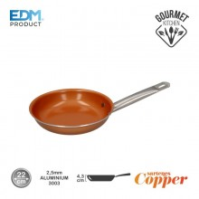 "SARTEN ANTIADHERENTE - ""COPPER LINE"" - EXCILON TECNOLOGY - Ø22CM - EDM"
