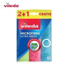 BAYETA MICROFIBRAS ULTRAFRESH 2+1 162660 VILEDA