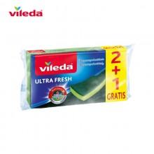 ESTROPAJO ULTRA FRESH 2+1 ANTIBACTERIAS 156910 VILEDA