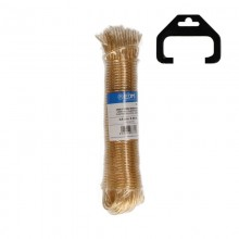 MADEJA CABLE ACERO PLASTIFICADO 25MTS ORO