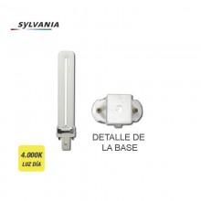 """BOMBILLA BAJO CONSUMO LYNX-S 9W 840K LUZ DIA CASQUILLO G-23 """"SYLVANIA"""""""