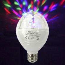 BOMBILLA DISCOTECA LED RGB E27 3W MULTICOLOR ROTACION 360° EDM