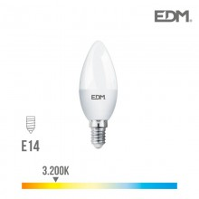 BOMBILLA VELA LED E14 5W 400 LM 3200K LUZ CALIDA EDM