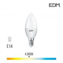 BOMBILLA VELA LED E14 7W 600 LM 4000K LUZ DIA EDM