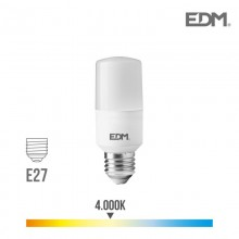 BOMBILLA TUBULAR LED E27 10W 1100 LM 4000K LUZ DIA EDM