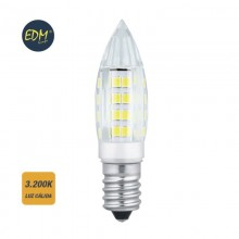 BOMBILLA MINI VELA LED E14 3W 280 LM 3200K LUZ CALIDA DM