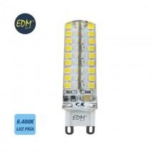 BOMBILLA G9 SILICONA LED 4,5W 300 LM 6400K LUZ FRIA EDM