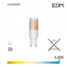 BOMBILLA G9 LED 5.5W 650 LM 6400K LUZ FRIA BASE CERAMICA EDM
