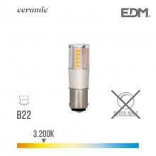 BOMBILLA BAYONETA LED B22 5.5W 650 LM 3200K LUZ CALIDA BASE CERAMICA EDM