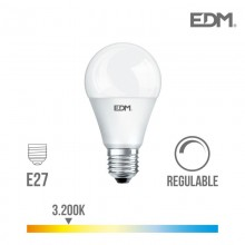BOMBILLA STANDARD LED REGULABLE E27 10W 810 LM 3200K LUZ CALIDA EDM