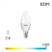 BOMBILLA VELA LED E14 7W 600 LM 6400K LUZ FRIA EDM