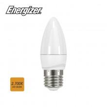 BOMBILLA VELA LED E27 5.9W 470 LM 2700K LUZ CALIDA ENERGIZER