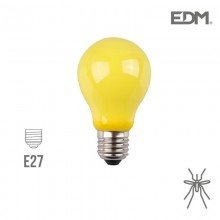 BOMBILLA ANTIMOSQUITOS STANDARD LED E27 4W 360 LM EDM