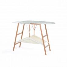 TABLA PLANCHAR FOPPAPEDRETTI PLEGABLE STRETCHING ALUMINIO/MADERA NOGAL